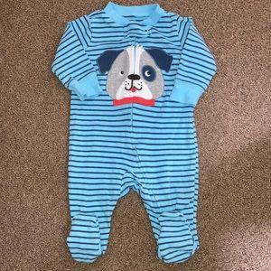 5/$20 3 month cotton zip up dog pajamas vguc